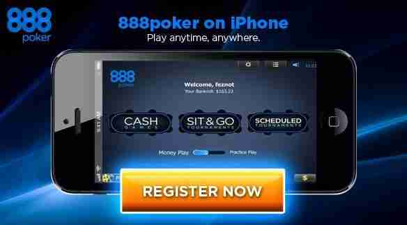 Mobile Casino 888 Poker on Iphone