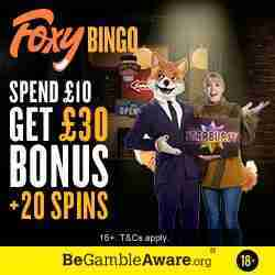 Foxy Bingo Review and Bonus